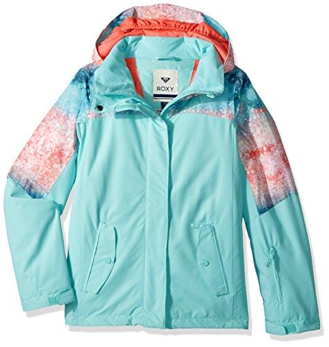 Roxy Big Girls' Jetty Block Snow Jacket, Neon Grapefruit_Solargradient, 10/Medium by Roxy