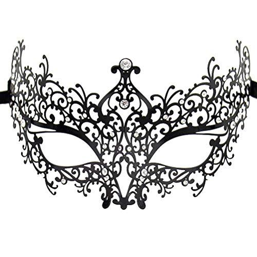 Luxury Masquerade Mask for Women Metal Rhinestone Eye