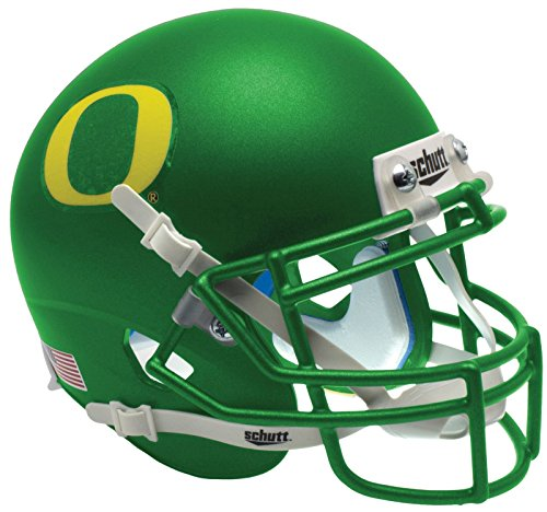 NCAA Oregon Ducks Matte Green Replica Helmet, One Size, White