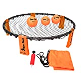 Funsparks Slam Ball with 3 Balls - Park, Beach Volleyball Game - Slam and Spike The Ball into The Net - Indoor Outdoor Toy for Older Kids