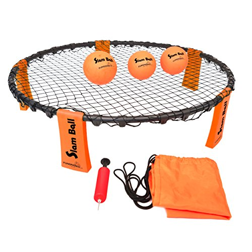 Funsparks Slam Ball with 3 Balls - Park, Beach Volleyball Game - Slam and Spike The Ball into The Net - Indoor Outdoor Toy for Older Kids by Funsparks