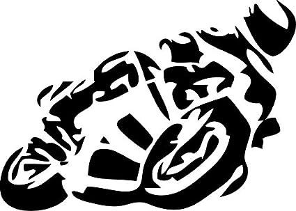 Autoaufkleber Motorrad Auto Aufkleber 24x18cm Schwarz Garten