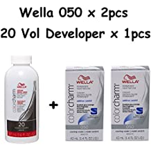 Wella Color Charm 050 Cooling Violet 2-Pack with Cream 20 Developer 3.6 oz