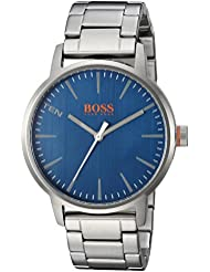 HUGO BOSS Mens COPENHAGEN Quartz Stainless Steel Casual Watch, Color:Silver-Toned (Model: 1550058)