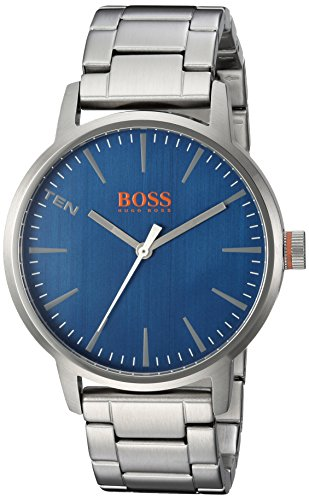 HUGO BOSS Men's 'COPENHAGEN' Quartz Stainless Steel Casual Watch, Color:Silver-Toned (Model: 1550058)
