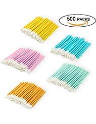 Disposable Lip Brushes Make Up Brush Lipstick Lip Gloss Wands Applicator Tool Makeup Beauty Tool Kits (500 COLOR)