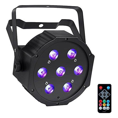 LED Par, YeeSite 70W 7LEDs Par Can Lights RGBW DMX Remote Control for Church DJ Show Wedding Stage Lighting Christmas Party