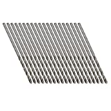 uxcell® 20 Pcs Straight Shank High Speed Steel 1.6mm Micro Twist Drill Bit