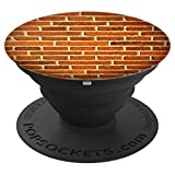 Red Brick And Mortar Wall Pattern Reminder To Be Strong Help - PopSockets Grip and Stand for Phones and Tablets