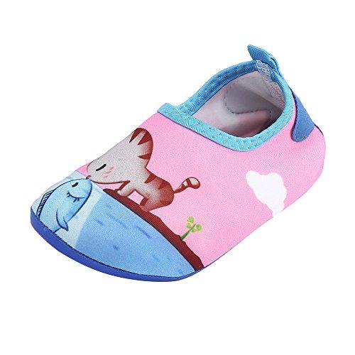 (HAPPIShare Kids Water Shoes Toddler Swim Shoes Quick Dry Non-Slip Barefoot Aqua Socks for Beach Pool)