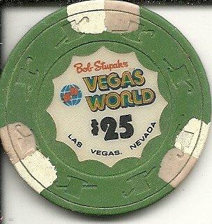 $25 BOB STUPAK/'S VEGAS WORLD LAS VEGAS CASINO CHIP