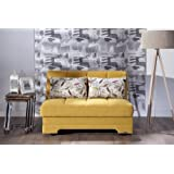 Istikbal   Twist Love Seat Sleeper   Optimum Yellow   Full Sleeper