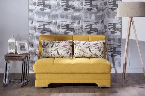 Istikbal – Twist Love Seat Sleeper – Optimum Yellow – Full Sleeper