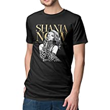 Men's Shania Twain Now Logo Fashion Tshirts Funny Shirts Black