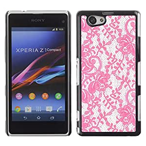 For Sony Xperia Z1 Compact / Z1 Mini / D5503 Case , Glitter Vintage Wallpaper Retro - Diseño Patrón Teléfono Caso Cubierta Case Bumper Duro Protección Case Cover Funda