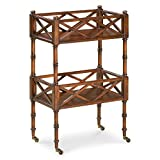 This distinctive mobile serving cart designed in the classic Chinese Chippendale-style boasts form, functionality and great design. Perfect for serving drinks and hors d'oeuvres at your next party or use everyday as a service bar or accent ta...