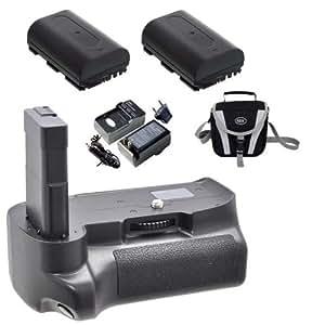 Nikon D3200 Multi-Power Replacement Battery Grip + 2X EN-EL14 + Charger + Case