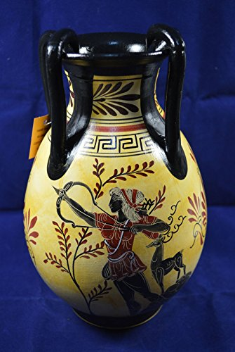 Vase Classical Period Reproduction Amphora Hand Painted Apollo