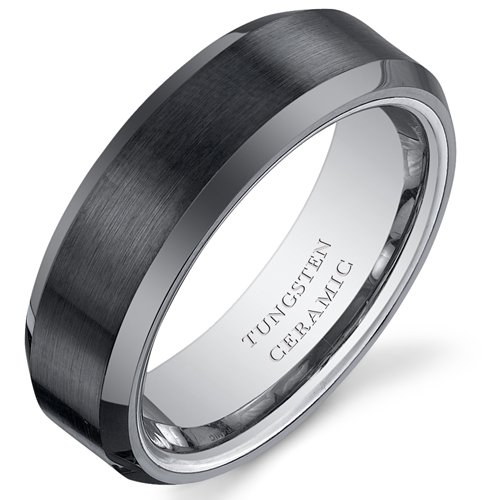 Favori Revoni - Tour de Force - Bague Homme - Tungstène - Alliance en  OB64
