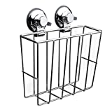 B Blesiya Stainless Steel Wire Wall Mounted Suction Magazine Holders File Folder Racks