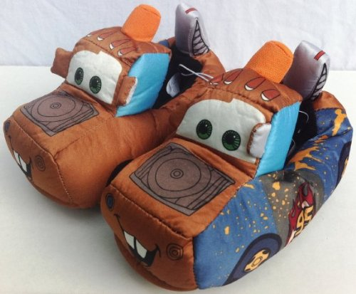[Disney Cars Tow Mater Plush Head Socktop Sock Top Slippers Shoes Kid Shoe Size 5/6 Great for Halloween Costume Christmas] (Sven Costume For Boys)