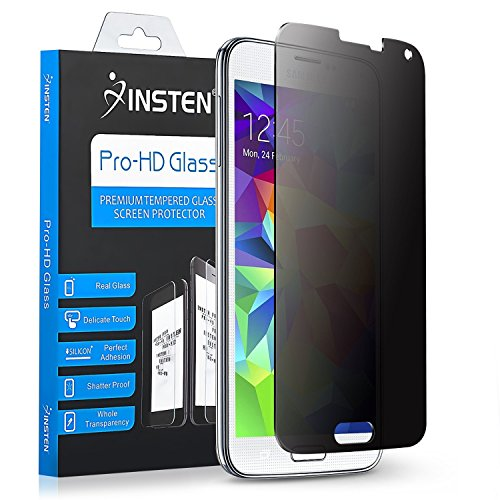 Galaxy S5 Privacy Screen Protector, Insten Premium Tempered Glass Privacy Anti-Spy LCD Screen Protector Shield For Samsung S5 SM-G900/ G900F/ G900I/ G900M/ G900A/ G900T/ G900W8 (Lcd Tempered Glass)