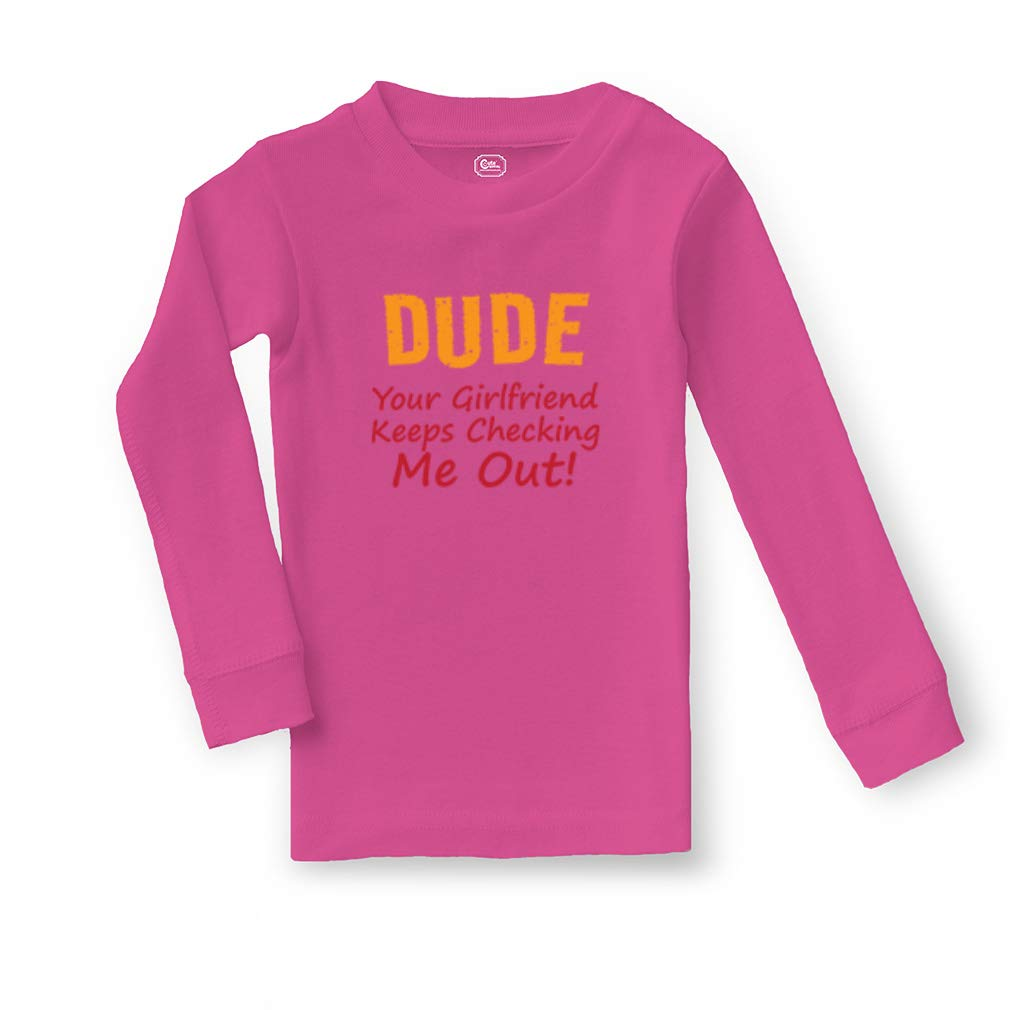 Dude Your Girlfriend Keeps Checking Me Out Sleepwear Pajama 2 Pcs Set