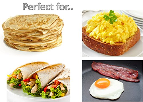 Large Crepe Pan 10 Inch Nonstick Coating and Bakelite Handle - Easy pancakes omelette fried eggs tortilla pancake pita bread Cookware - Best Crepes Pan Rounded Base durable by Maxi Nature Kitchenware (Image #4)