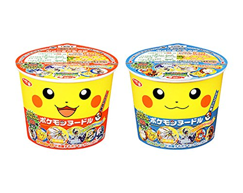 Price comparison product image Pokemon Noodles Set of 2 Soy sauce taste & Seafood taste Instant cup noodles