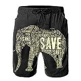 KDSG GSKD Africa Elephant Mens Beach Shorts Swim Trunks Quick Dry Beachwear Swimwear Bathing Suits
