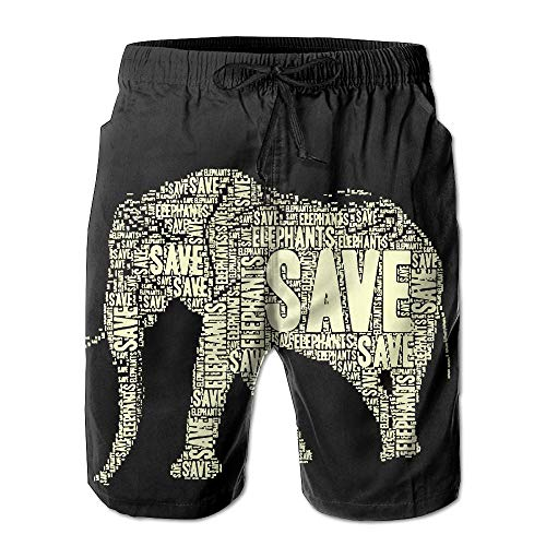 KDSG GSKD Africa Elephant Mens Beach Shorts Swim Trunks Quick Dry Beachwear Swimwear Bathing Suits by KDSG GSKD