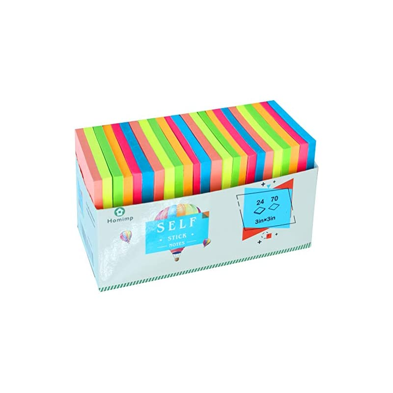 24 Pads Sticky Notes 3 x 3 - Adhesive Se