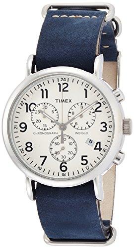 Timex Beige Dial Stainless Steel Leather Chrono Quartz Men's Watch TW2P62100 (Beige Leather Watch)