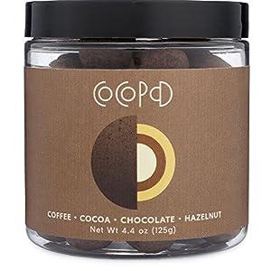 Cocopod Espresso Bean Chocolate Hazelnut - Delicious Layered Chocolate Experience | Gluten Free, Non GMO, Sustainable Dark Cocoa Powder (Espresso Beans, Dulcey + 38% Milk Chocolate Candy, Hazelnuts)