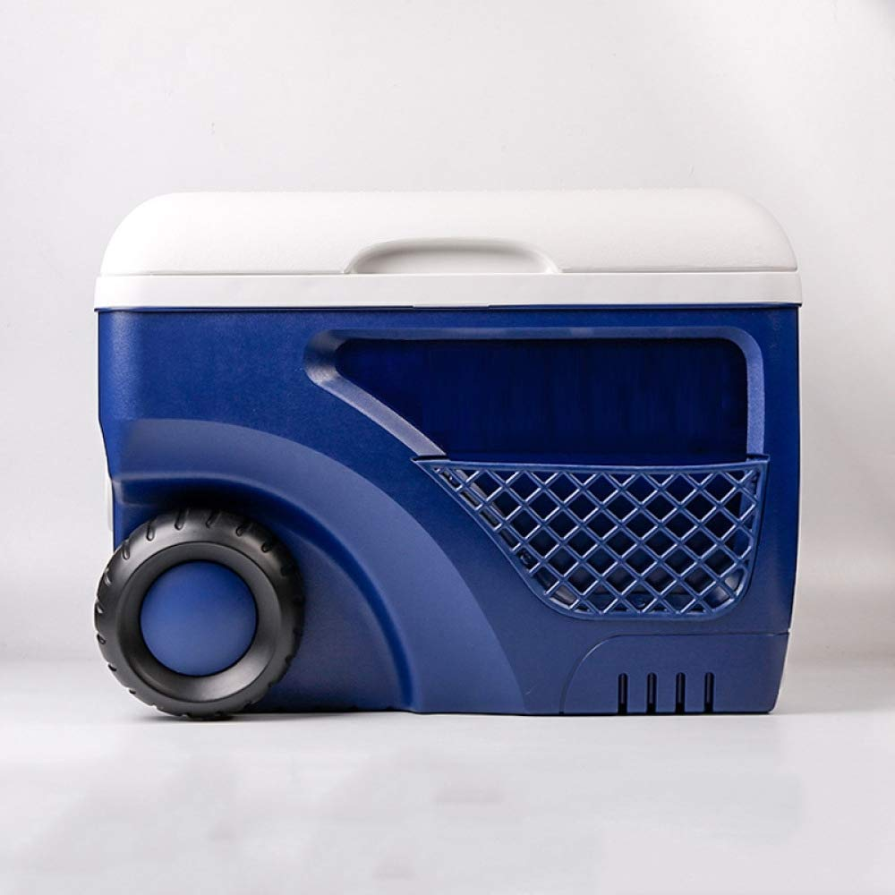 Ambiguity Kühlboxen,45L PU-Isolation-Box Kühlschrank Outdoor Gürtel Rad tragbare Aufbewahrung Box