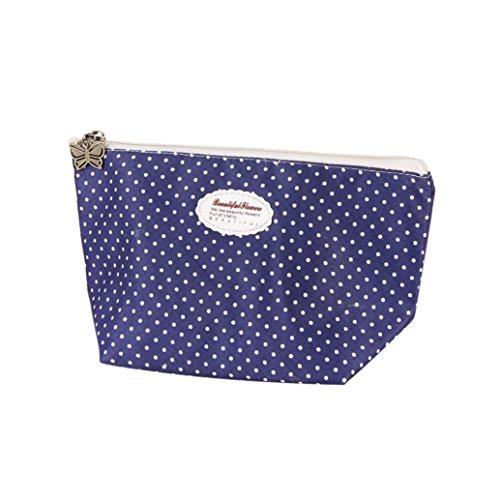 Waterproof Lines Nylon Cosmetic Bag Travel Wash Pocket - 6