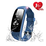 Fitness Tracker Heart Rate Monitor Watch - Letscom IP67 Waterproof Activity Tracker with Calorie Counter Pedometer Watch for Kids Women Men