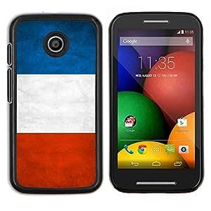 """Be-Star Único Patrón Plástico Duro Fundas Cover Cubre Hard Case Cover Para Motorola Moto E / XT1021 / XT1022 ( Bandera nacional de la Serie-France"""" )"""