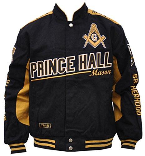 Mason Prince Hall Mens Twill Jacket 4XL Black/Gold