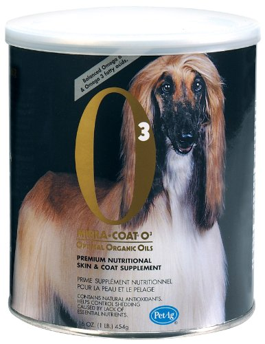 Mirra-Coat O3 Organic Powder Coat Conditioner for Dogs, 1-Pound, My Pet Supplies