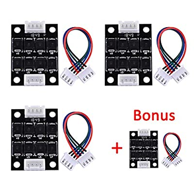 SIQUK 4 Pcs TL Smoother Addon Module 3D Printer Accessories Filter for Pattern Elimination Motor Clipping Filter 3D Pinter Motor Drivers