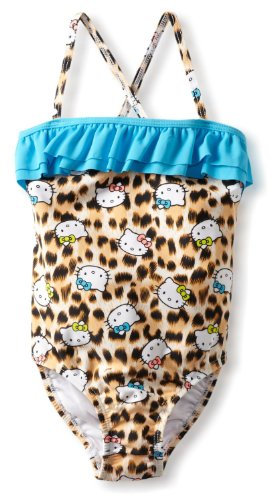 Hello Kitty Leopard Print Swimsuit for Toddlers