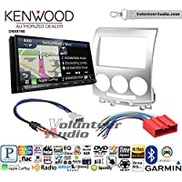 Volunteer Audio Kenwood DNX874S Double Din Radio Install Kit with GPS Navigation Apple CarPlay Android Auto Fits 2006 Mazda 5