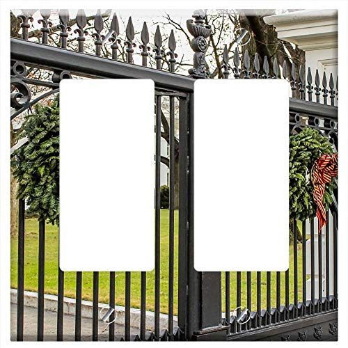(Switch Plate Double Rocker/GFCI - Front Gate The White House Washington Dc)