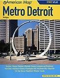 American Map Metro Detroit, Michigan Street Atlas
