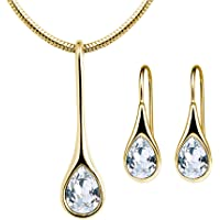 MESTIGE Iris Crystal Set in Gold with Crystals from Swarovski®