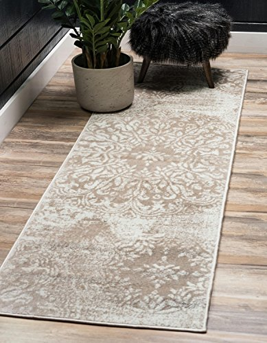 Unique Loom Sofia Collection Traditional Vintage Beige Home Décor Runner Rug (2' x ()