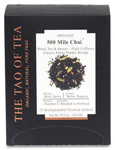 (The Tao of Tea 500 Mile Chai Box Pyramid Sachets, 1.85 Ounce)