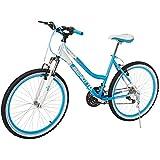 Benotto Bicicleta Madeira FS MTB Acero R26 21V Dama Sunrace Frenos V