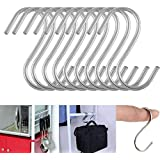PRODUCTMINE® Stainless Steel Multipurpose S-Hook Sling Type, Cabinets, Hangers, Travelling, Kitchen Cutlery Hanging Hook, Hanger Hook, Bathroom Hook 3 Inches in Length (Pack of 6 pcs)